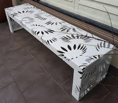 bench seat iron bark metal design