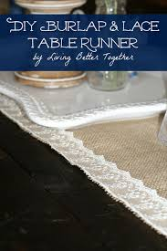 Burlap Lace Table Runner Diy Burlap U0026 Lace Table Runner Sugar U0026 Soul