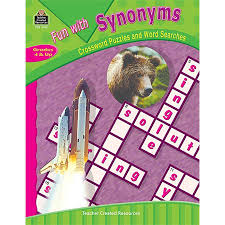 fun with synonyms crossword puzzles and word searches tcr3145