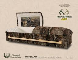 camo casket sportsman camo cloth deer showroom