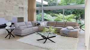 Fabric Sofas Perth Zavier Fabric Corner Lounge With Chaise Lounges Living Room