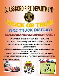 glassboro fd and pd truck or treat and haunted house u2014 official