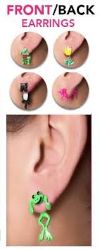 front and back earrings eliza lobe earings brand new earring trend this summer