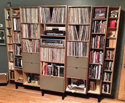 Vinyl Record Bookcase Vinyl Storage For Audiophiles Mid Century Modernized Custom