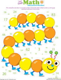 counting numbers odd and even worksheet education com
