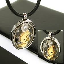 titanium gold necklace images Man spinner gold wolf gmestone pure titanium pendant necklace jpg