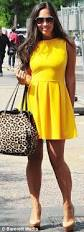 myleene klass and amy childs wear same 46 canary yellow dress