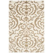 Tropical Accent Rugs Power Loomed Beige Tan Cream Shag Area Rug Rugs Carpet 4 6 5 8 9