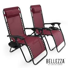 Zero Gravity Patio Chair by Belleze 2pack Zero Gravity Chairs Recliner Lounge Patio Chairs