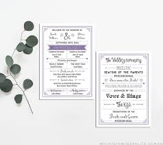 Printable Wedding Programs Free Free Printable Wedding Program Mountainmodernlife Com