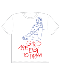 girls are easy to draw a cool t shirt by talktomyagent on threadless