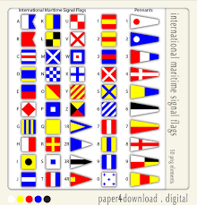 Us Navy Signal Flags Beachcombing Frames Clipart Digital Collage Png Instant