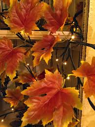 fall garland lighted fall garland 6 96 lights electric buy now