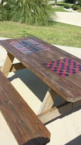 Make A Picnic Table Cover by Best 25 Picnic Tables Ideas On Pinterest Diy Picnic Table