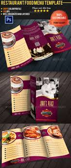 customizable menu templates 66 best restaurant food menu graphic designs images on
