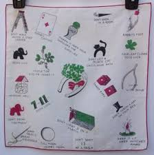 bad luck superstitions vintage good bad luck novelty handkerchief horseshoe superstitions