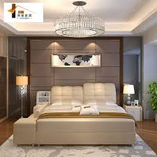Bedroom Furniture China Leather Bed Tatami Bed Minimalist Modern - Bedroom furniture china