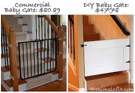 Baby Gates For Top Of Stairs With Banisters Easy Custom Diy Baby Gate The Kim Six Fix