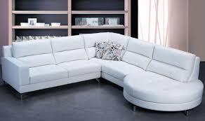 White Leather Single Bed L Shape White Leather Couch With Six Seat Plus Single Arm Rest And