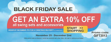 black friday kids black friday sale on swing sets and accessories by kid u0027s creations