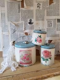 cottage farmhouse decorative canister set kitchen storage kitchen