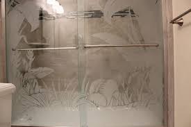 elegant etched glass shower doors how to frost shower glass denver