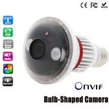 gu10 6w wifi wireless webcam night vision led ir ip camera gu10