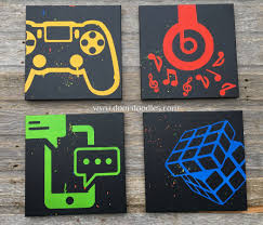 custom wall decor bedroom teen game room