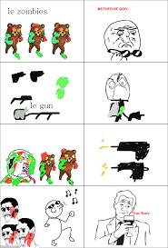 Comic Meme - ragegenerator rage comic zombie meme attack