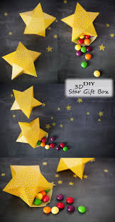 diy 3d star gift box u2013 happy christmas u0026 new year holiday party