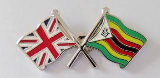 Flag Cape Zimbabwe And United Kingdom Friendship Flag Pin Badge T774