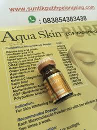 aqua skin egf gold pusat suntik putih vitamin c kolagen suntik putih terbaru dan