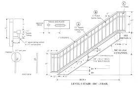 Standard Handrail Height Uk Ibc Prefab Steel Stairways