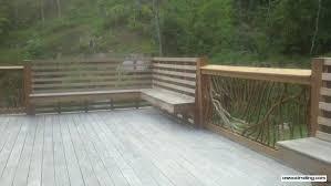 built in deck railing bench deck railing mountain laurel