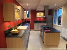 cuisine raison cuisine contemporain aménagement de la pièce avec un couloir