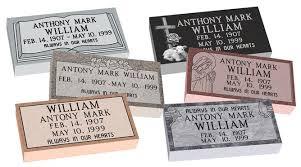 flat grave markers mf01 flat single grave marker headstone 24 x12 x4 p1swn
