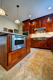 fieldstone wayburg cabinets cherry wood paprika with chocolate