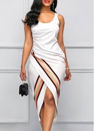 sheath dress scoop neck sleeveless white sheath dress rosewe usd 32 64