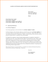 sample reference letters for employment template examples