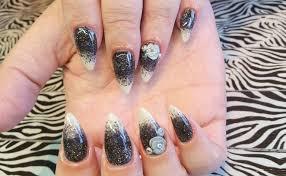 acrylic nails l black u0026 pearl fade l nail design youtube