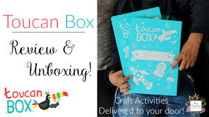 toucan box review arts and crafts subscription for kids