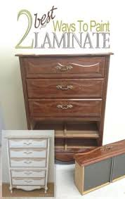 Upcycle Laminate Furniture - the difference between laminate and wood veneer furniture