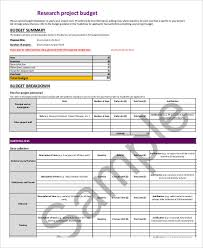 7 research budget templates free sample example format