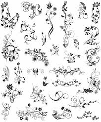 vector vintage ornamental design elements free vector in