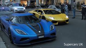 koenigsegg blue insane koenigsegg agera r causes chaos in london youtube