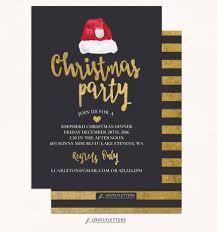 christmas party invitation digital gold christmas