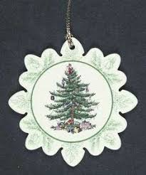 spode tree collection ornament kitten in a
