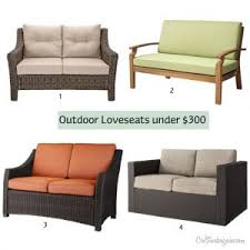 Patio Loveseats Outdoor Brown Patio Loveseat For Outdoor Patio
