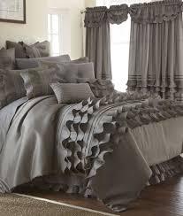 Ruffled Comforter 24 Piece Platinum Ruffled Comforter Set Queen