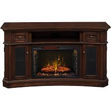 60 in w 5 200 btu walnut wood infrared quartz electric fireplace